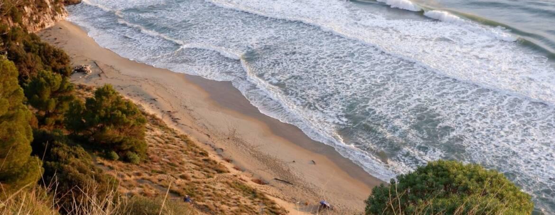 L'Assenza, una spiaggia d'inverno
